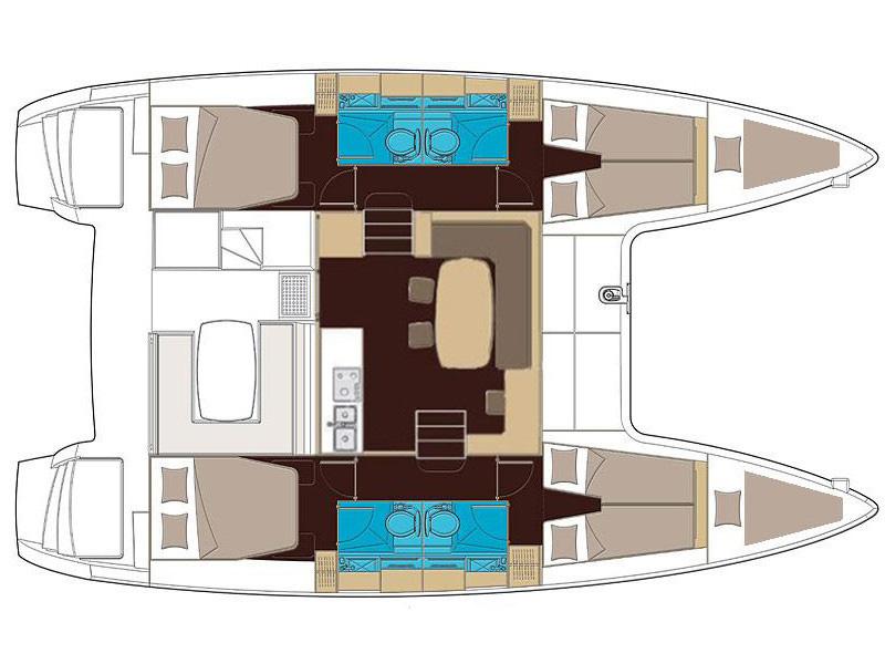 Lagoon 400 S2 - Royal Velvet 10